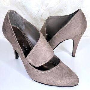 Apostrophe Shoes - APOSTROPHE | Penelope Taupe Suede Stiletto Heel